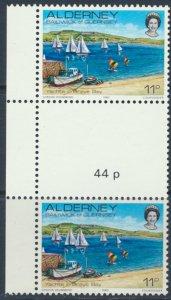 Alderney  SG A5  SC# 5  Scenes Braye Bay MNH Gutter Pair see scan