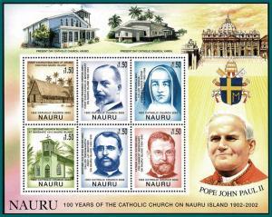 Nauru 2002 Catholic Church, Sheetlet, MNH 509,SG556-SG561