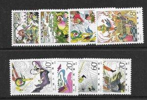 china - prc  1547-54    1979 set 8 VF NH