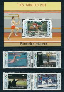 Ivory Coast - Los Angeles Olympic Games MNH Sports Set #C81-5 (1984)