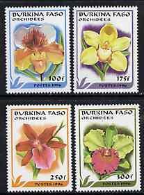 Burkina Faso 1996 Orchids complete perf set of 4 unmounte...