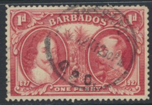 Barbados SG 240 Used  perf 12½ 1927 Tercentenary of Settlement SC# 180 see s...