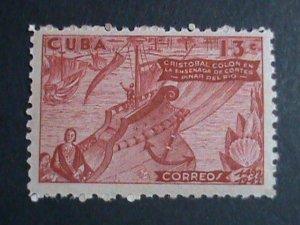 CUBA STAMP-1944 SC#391 COLUMBUS SIGHTS LAND-STAMP MNH-  VERY FINE