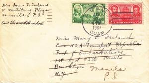 Cover: 1937, Guam-New York, See Remark (21810)