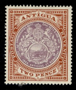 ANTIGUA GV SG45, 2d dull purple and brown, M MINT.