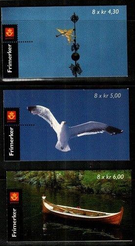Norway Scott 1155a-57a Mint NH booklets (Catalog Value $52.00)