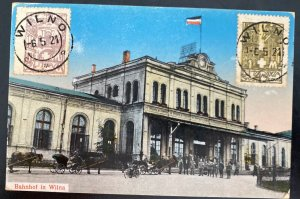 1921 Vilnius Lithuania Picture Postcard cover City Hall