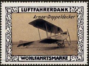 Germany Biplane Army Doppeldecker WWI Air Force Luftfahrerdank Flight MN G102807