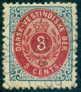Danish West Indies #17  Used  Scott $17.50