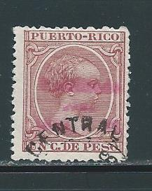 Puerto Rico 158 1c Alfonso XIII Overprint single Used