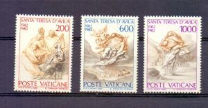 Vatican City 1982 MNH St Theresa of Avila complete