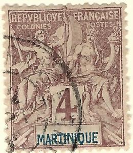 Martinique (Sc #35) F-VF Used..Prices are Rising!