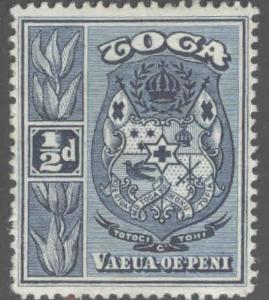 TONGA  Scott 38 MH* 1934 coat of arms stamp turtle watermark