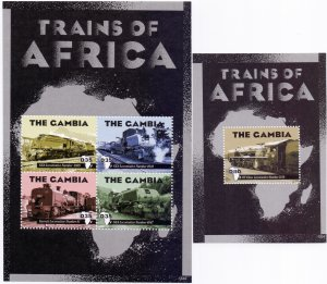 Gambia. 2013. Railway transport. MNH.