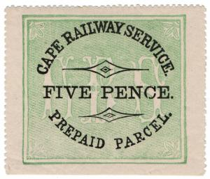 (I.B) Cape of Good Hope : Cape Railway Service - Parcel 5d