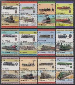 Tuvalu Nui 1984-88 Trains Specimen MNH