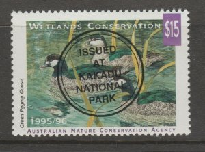 Australia Wildlife fund revenue fiscal stamp 2-27-  gum- mint-mnh $15 face Ducks