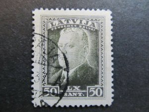 A4P25F41 Latvia Lettonia Lettland 1937 50s used