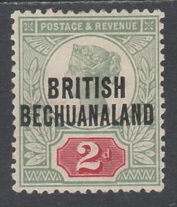 BRITISH BECHUANALAND 1891 QV GB 2D