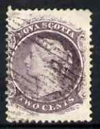 Nova Scotia 1863 QV 2c purple on white paper used SG20/23