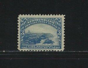 NEWFOUNDLAND - #63 - 3c CAPE BONAVISTA USED STAMP