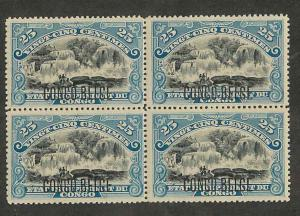 Belgian Congo 34 Mint VF NH Block of 4