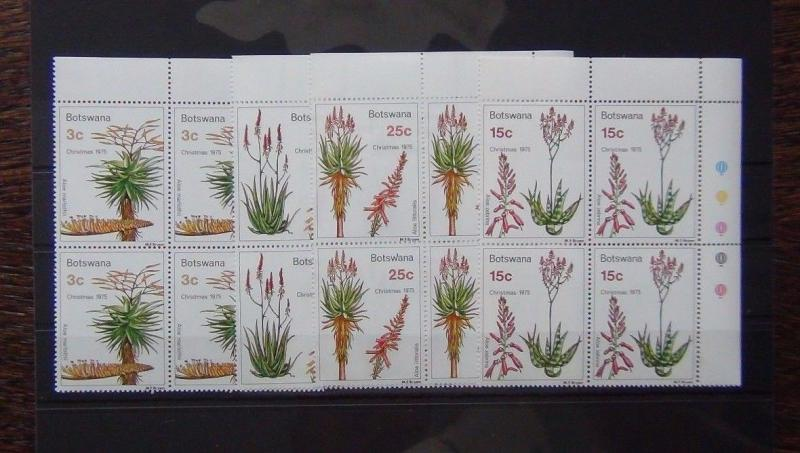 Botswana 1975 Xmas Aloes in block x 4 MNH PLANTS