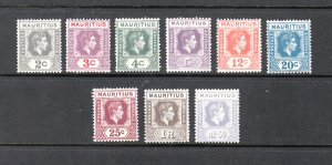 MAURITIUS SC# 211-220 MH - SALE TO A USA ADDRESS ONLY