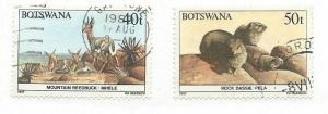 Botswana #418-419 (U) CV $3.50
