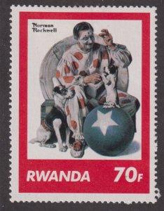 Rwanda 1034 Saturday Evening Post Covers 1981