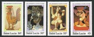 St Lucia 550-553,554,MNH.Mi 538-541,Bl.28. Pablo Picasso,birth centenary,1981.