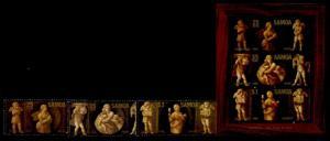 Samoa 634-6a MNH Christmas, The Three Virtues, Raphael