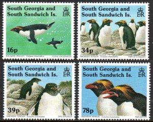 South Georgia 170-173, MNH. Macaroni Penguins, 1993