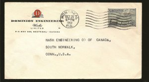 Canada 311 Trains on Postmarked Montreal PQ 1951 Advertising Cover