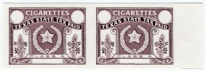 (I.B) US Revenue : Cigarette Tax Paid (Texas) printer's proofs