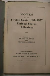 US twelve cent 12c 1851-1857 Ashbrook Tracy notes specialized Scott handbook DM