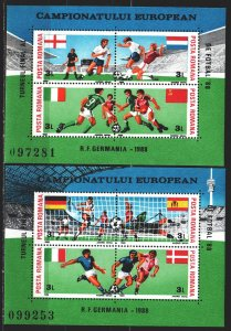 Romania. 1988. bl 241.242. Soccer World Cup. MNH.