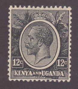 Kenya Uganda & Tanzania 23 MNH 12c Black 1922 KGV Issue Very Fine