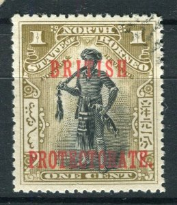 NORTH BORNEO; 1901 early pictorial issue fine used 1c. value
