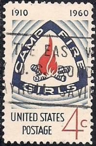 1167 4 cent Camp Fire Girls F-VF used