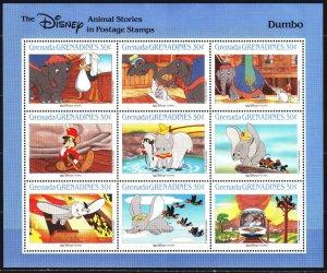 Grenada. 1988. Small sheet 1000-8. Disney, cartoons. MNH.