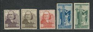San Marino Sc#84-88 M/LH/VF, Cv. $32.50