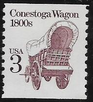 Sc2252 Coil Single Conestoga Wagon MNH
