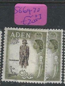ADEN  (PP0807B)  QEII  10/-  SG 69-70  MOG