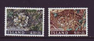 Iceland Sc B21-2 1967 Charity Bird stamps NH