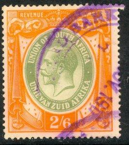 SOUTH AFRICA 1913 KGV 2sh6d General Revnue Portrait Issue BFT.6 VFU