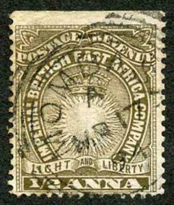 British East Africa SG4 1/2a dull brown