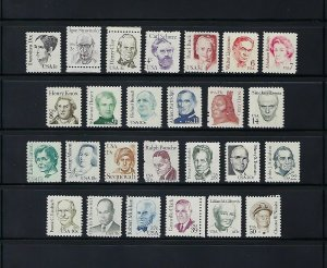 GREAT AMERICANS SERIES 3 COMPLETE SETS OF MNH SINGLES - SCV $55.50 - Q178