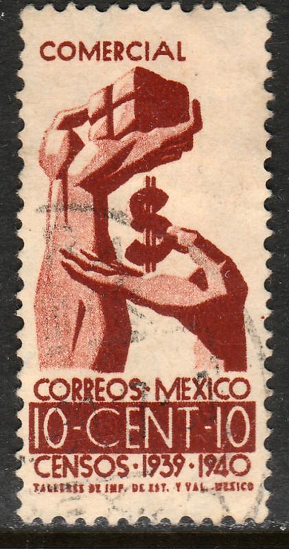 MEXICO 753, 10c Census, 1940. Used. F-VF. (455)