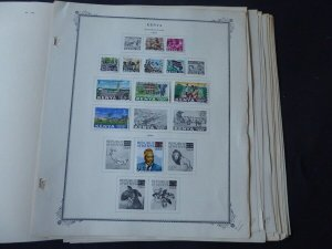 Kenya and KUT 1921-1969 Stamp Collection on Scott Specialty Album Pages